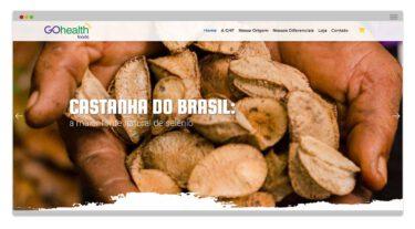 Criação de Site e Loja Virtual - Go Health Foods