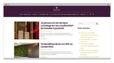 Criação de Blog Guestier Residencial